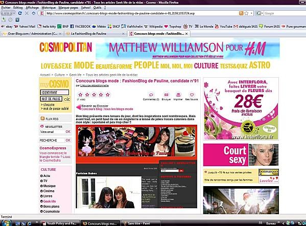 cosmopolitan concours blog COSMO FASHION BLOGS CONTEST !
