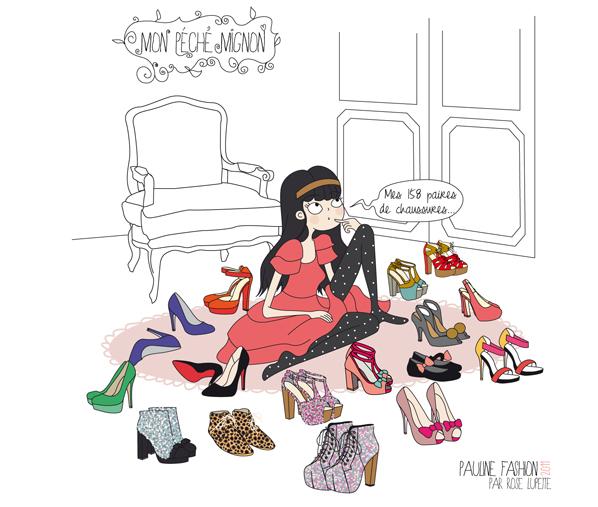 Bienvenue dans mon shoesing pauline for Dessin dressing