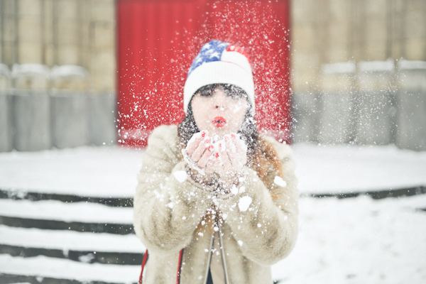 stars and stripes beanie april may paris snow PAULINEFASHIO Happy Snow !