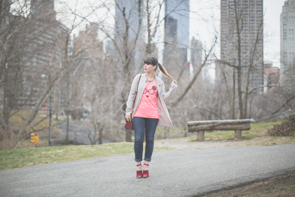 Maison Scotch t shirt Blonda Castana shoes PAULINEFASHION Central Park