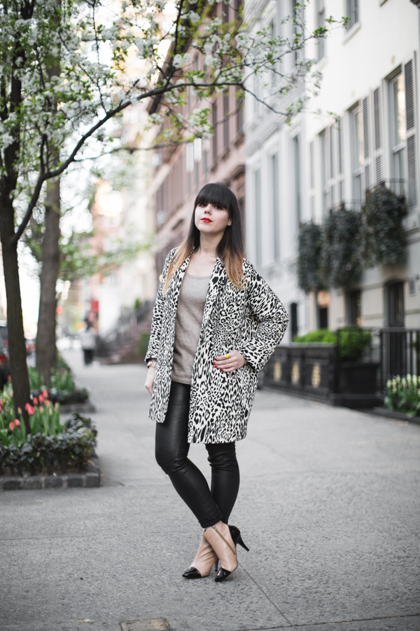 animal print black and white coat zara PAULINEFA copie 1 Blooming Upper East Side