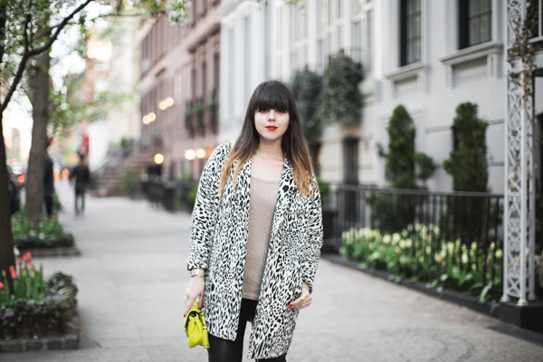 animal print black and white coat zara PAULINEFA copie 31 Blooming Upper East Side