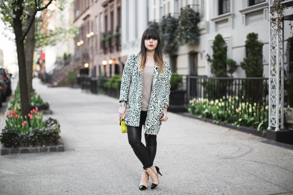 animal print black and white coat zara PAULINEFA copie 5 Blooming Upper East Side