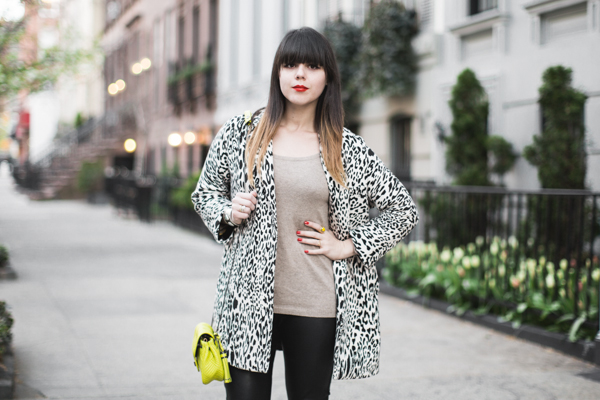 animal print black and white coat zara PAULINEFASHIONBLOG Blooming Upper East Side